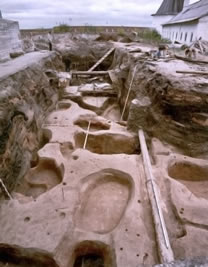 General view of the dig in the territory of the Cannon Foundry. 2003.